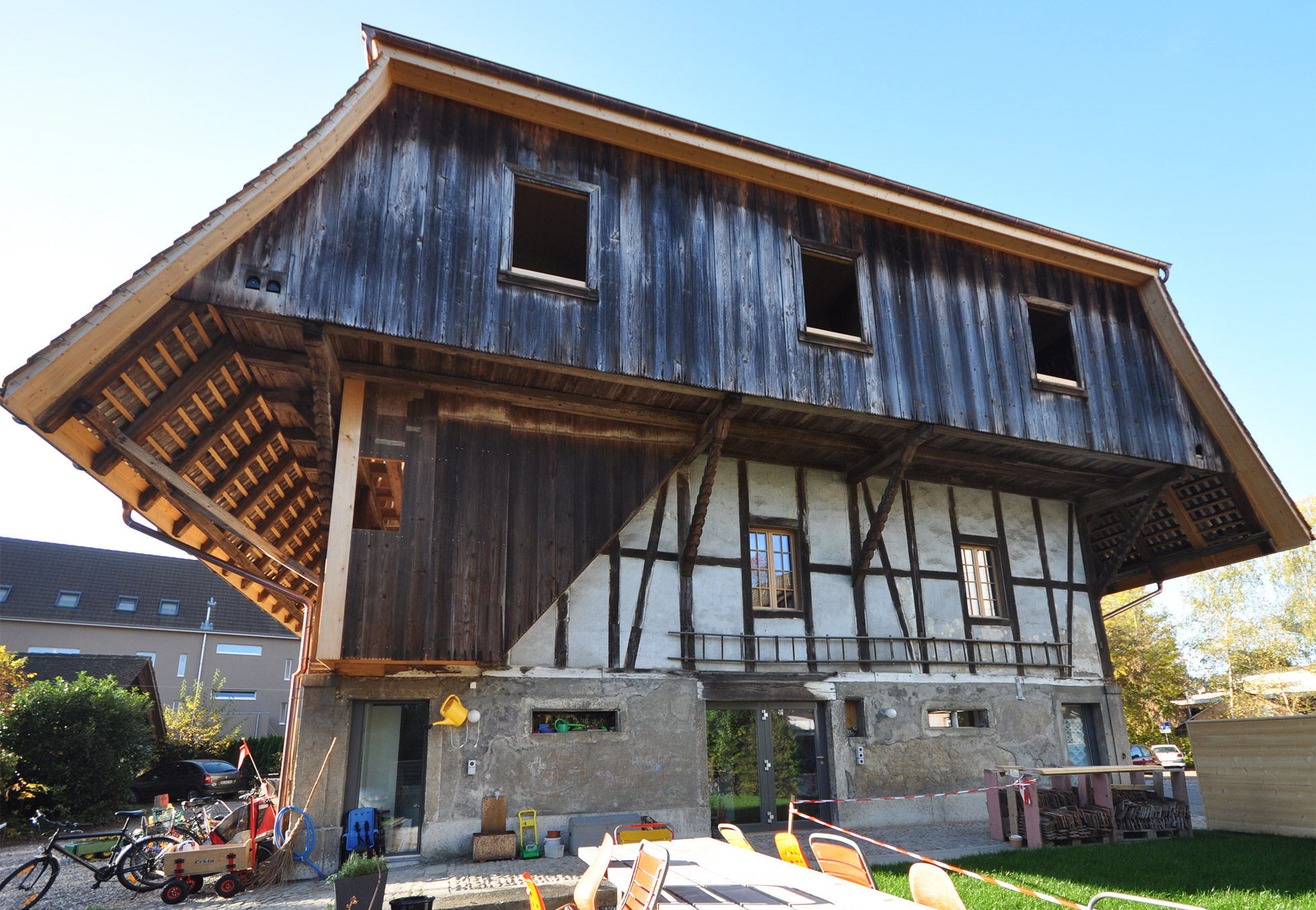 schaerholzbau ag umbau zweifamilienhaus in langenthal. Black Bedroom Furniture Sets. Home Design Ideas